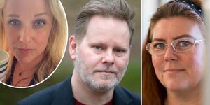 Sara Thunmarker, Fredrik Adolphson och Carina Höglund. Fotomontage. Anna Klint och Agnes Fäldt.