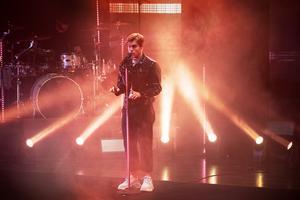 Benjamin Ingrossos show avslutade konsertkvällen.