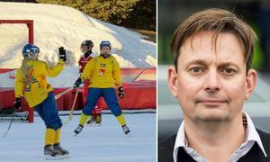 Sverige är regerande mästare efter att ha vunnit VM i USA 2016. Nu ska man försöka försvara guldet under förbundskapten Magnus Nordin. Bild: Svenska Bandyförbundet och TT.