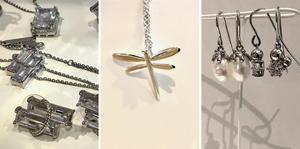 Sofia Björks smycken är klassiskt stilrena. Inspiration till trollsländan fick hon av sin mormor.