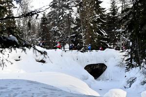 Här har Vasaloppetes spår alltid gått fram över bron i Läde.