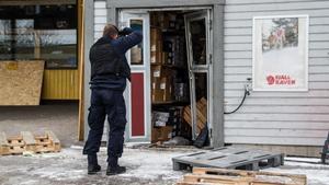 Runes sport i Skinnskatteberg – ett av flera företag som drabbats av inbrott.