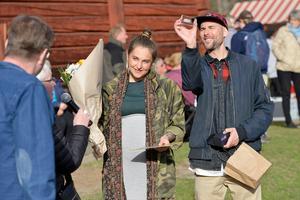 Anna Berntzén och Daniel Öun representerade föreningen Urskogen som blev Årets Norra bergare.