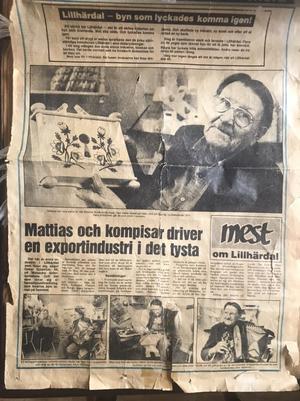 Mattias Gulle var kurbitsmålare och satte sin prägel på konstverken som skapades på Mobacka.