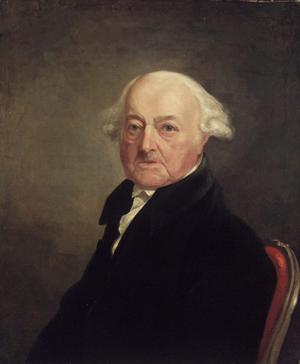 USA:s andre president John Adams 1816. Målning av Samuel Morse.