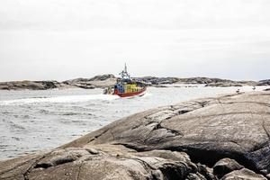 Räddningsbåten Stenhammar patrullerar skärgården.