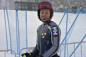 Anna Swenn-Larsson på plats i Levi.