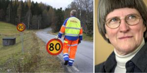 Politik ska grundas på vetenskapliga faktaunderlag, därför bör hastigheten sänkas på riksväg 70, skriver Annika Rullgård. Foto: Arkivbild