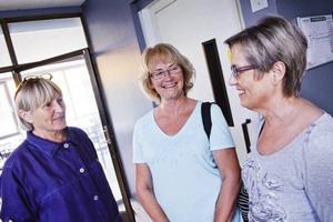 Birgitta Sundvik, Eeva Grönvold och Katriina Jakenberg kunde tänka sig avtalspension.