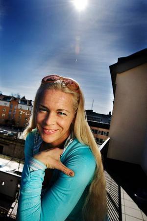 Malena Ernman vill glänsa i lördagens final och ska satsa på att vara glad, spontan och trevlig.Foto: Yvonne Åsell/Scanpix