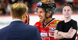 Mathias Bromé hade en stor kväll mot Växjö, då Örebro Hockey i någon mån visade att det inte bara är pengar som spelar hockey. Bild: Johan Bernström/Bildbyrån