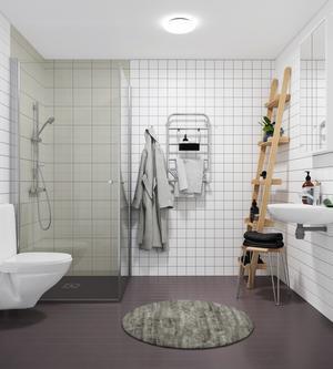 Exempelbild badrum. Illustration: Telge bostäder