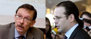 GODA RÅD. Lars Calmfors och hans grupp av ekonomer önskar mer av åtgärder mot krisen, 15 miljarder mer i år, 30 nästa år. Utgiftstaket kan också höjas en bit, anser Calmfors. Men Anders Borg säger blankt nej.