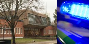 Rutor krossades på Gröndalsskolan natten mot söndag. Foto: NP/TT