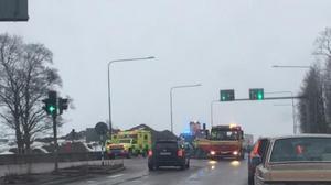 Kökrock i Borlänge med flera bilar inblandade.