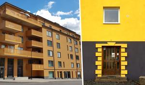 Sämre med terrakotta än solgult, tycker insändarskribenten. Och jämför färgsättningen på huset Grand central på Köpmangatan med Östergatan 2.