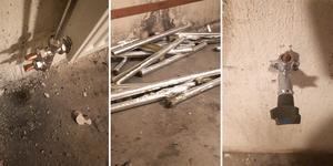 Kopparrör i taket, vid element och tappkranar – allt blev stulet. Bild: Anders Larsson