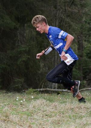 Förstaårs-senioren Isac von Krusenstierna slog till med en fjärdeplats i den första etappen av O-Ringen. Foto: Lars Gustafsson