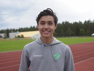 Kristoffer Andersson tog i sommar nytt klubbrekord i längdhopp för Falu IK, 6.88 blev det nya rekordet.