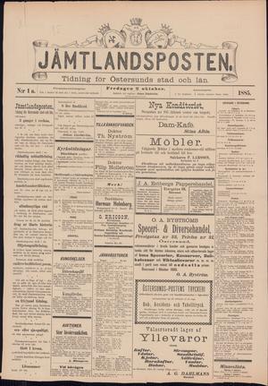 Jämtlandspostens första förstasida.
