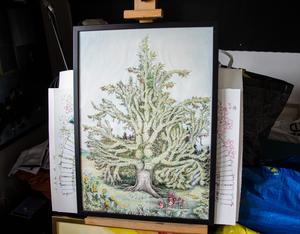 Ännu ett släktträd som Anna har målat.