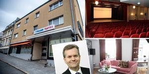 Folkanhuset i Örnsköldsvik är till salu. För 34,5 miljoner kronor kan man bli ägare till en teater, 20 bostadslägenheter, 2 mindre hotelldelar och 3 kontorslokaler.