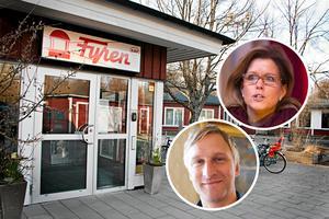 Åsa Wiklund Lång och Jörgen Edsvik, kommunalråd i opposition för Socialdemokraterna i Gävle, vill rusta Fyren i Norrsundet, medan alliansen vill sälja fastigheten.