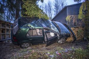 En person fördes till sjukhus efter singelolyckan i Sörbo under natten mot onsdag.