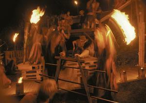 Under många år satte Slávateatern stark prägel på kulturutbudet i Södertälje – bilden är från en föreställning på Tom Tits experiment. 2005 flyttade Sláva till Botkyrka. Foto: Cia Karlsson