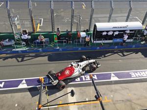 Marcus Ericsson tvingades rulla in i depån och bryta redan på sjätte varvet. Foto: Lisa Abrahamsson/TT