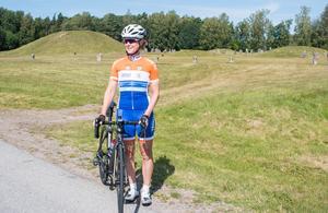 Marie tycker cykelträning är idealiskt då man får uppleva naturen runt om.