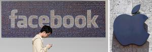 Facebook och Apple hör till de storföretag som avslöjats med att betala extremt låga skatter. Foto: Jeff Chiu/AP Photo och Alan Diaz/AP Photo