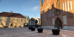 Domkyrkoplan på Västra kyrkogatan återinvigs söndagen den 9 december av domprost Susann Senter. Foto: Pressbild/Svenska kyrkan Västerås