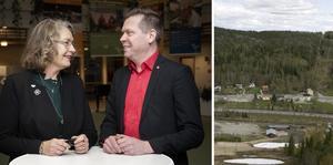 Anna-Britta Åkerlind (C) och Per Nylén (S) vill dra E4 genom Åsberget.