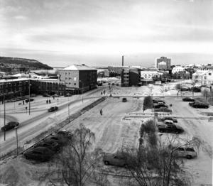 Så här öppet såg det ut när  Grand Hotell var rivet, vintern 1975.
