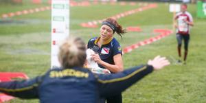Sverige slog fjolårets vinnare Schweiz  i stafetten. Foto: TT.