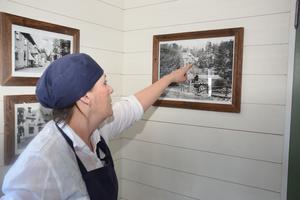 Kärsti Hård  berättar – med hjälp av gamla fotografier – om sin morfars bageri.