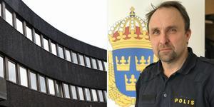 Debattören Peter Karlsson är polisområdeschef för Dalarna. Foto: Polisen/Stina Rapp DT/Montage