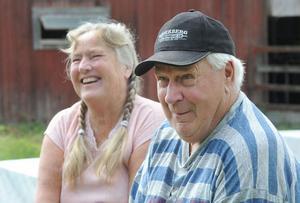 Henry Äng och Eyvor Äng från Kilafors tyckte att det var ett roligt initiativ med öppet hus.