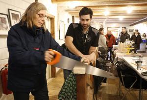 Ingrid Andersson besökte Mattias Kaya och NN Byggs monter.