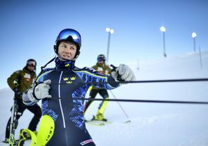 André Myhrer under träning och förberedelser i Björnrike inför alpina VM i Åre.
