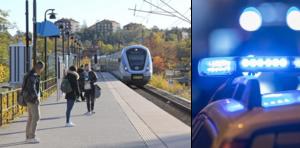 En 17-åring utsattes för ett rånförsök på Gröndalsvikens station på torsdagen. Foto: TT