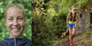 Montage. Bilder: Jens Larsson/Privat Fanny Borgström från Duved blev 12:a i VM i Ultra Trail i Portugal.