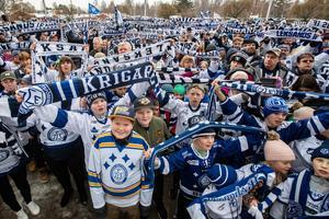 Stödet för LIF tycks växa år för år – oavsett i vilken serie laget spelar sin ishockey i. Foto: Bildbyrån