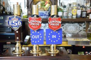 På den här puben gick det att välja ölkran efter inställning till brexit inför Storbritannens EU-omröstning.