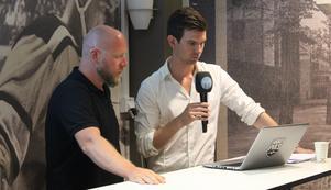 Patrik Zetterberg tillsammans med reporter Peter Hoffström