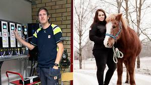 Nils Andersson och Frida Johansson, som båda stortrivs med sina tjänster vid Fors Bruk.