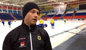 Johan Löfstedt tränade inte med landslaget på fredagen.