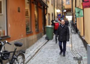 Trivsamma gränder är Jörgen Berglunds promenadväg till och från riksdagen.
