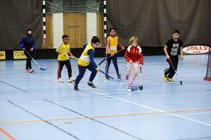 Matchspel avslutade träningen på måndagen.